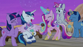 Twilight Sparkle and her family laughing together S7E22.png