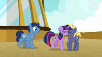 Twilight Sparkle bumps into Star Tracker S7E22