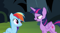 Twilight getting angry with Rainbow Dash S4E04