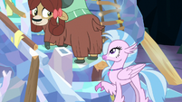 Yona looks at Silverstream behind her S9E3