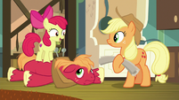 "Apple Bloom ""can't wait to see if I caught"" S9E10"
