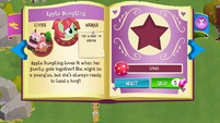 Apple Dumpling album page MLP mobile game