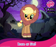 Applejack Nightmare Night promotion MLP mobile game