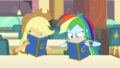 Applejack and Rainbow flip through yearbook pages EGDS4.png