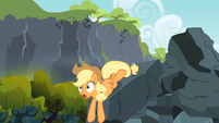 Applejack slides down S3E09