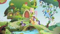 Back at Fluttershy's cottage S01E10