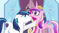 Cadance being supported by Shining S3E2.png