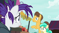 Caramel and Mint Flower looking at Rarity S7E19.png