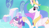 Celestia --than that of a newborn unicorn!-- S6E1