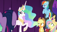 Celestia renouncing the title of Princess S8E7
