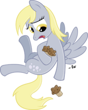 FANMADE Derpy dropping a muffin