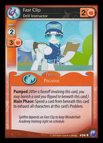 Fast Clip, Drill Instructor card MLP CCG