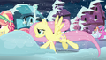 Fluttershy and Crystal pony run S6E2.png
