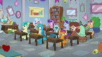 Friendship students gasping in shock S8E21