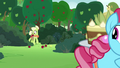 Granny Smith emerging from the bushes S7E13.png