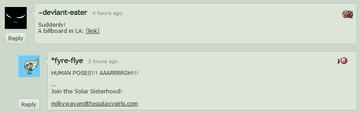 """Lauren Faust """"HUMAN POSES!!!"""" DeviantArt comment 2011-06-28"""
