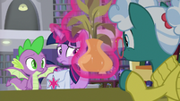 Librarian Pony immediately recognizes Twilight S9E5