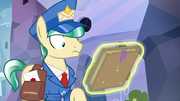 Mail Pony looking at Houyhnhnm's Guide S8E8