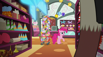 Pinkie Pie appears in the party store S7E12