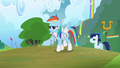 Rainbow Dash and Soarin walking proud S4E10.png