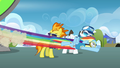 Rainbow flying past Spitfire S3E07.png