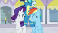 Rarity and Rainbow smiling S5E15.png