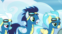 "Soarin ""are you okay, Rainbow Dash?"" S6E7"