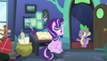 Spike getting Starlight Glimmer's attention S6E21.png
