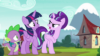 Starlight points her hoof at Twilight S5E26