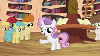 Sweetie Belle -we don't have Scootaloo's unicycle parts- S4E15
