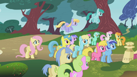 The ponies listen to Twilight S1E07