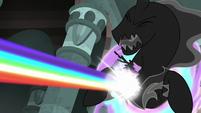 Twilight flies into the Pony of Shadows S7E26