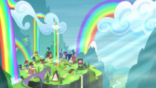View of Rainbow Falls S4E10