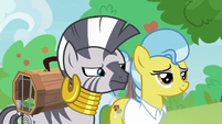 Zecora looking closely at the chaos S9E18