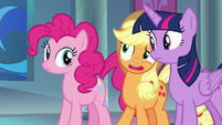 "Applejack ""just to tell us that?"" S9E1"