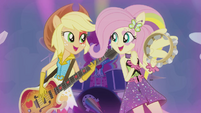 Applejack and Fluttershy rocking out EG2
