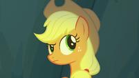 Applejack listening for sounds S7E16
