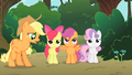 Applejack surprised that the CMC are not happy with the tree house S1E18.png