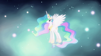 Celestia appears to congratulate Twilight S03E13