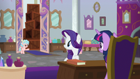 Cozy asking about Rarity's sewing machines S8E16