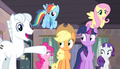 Double Diamond introduces the Mane Six S5E1.png