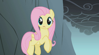 Fluttershy jumping the cliff S1E07