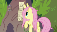 Fluttershy picking up her to-do list S9E18