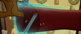 Hole in Capper's jacket sleeve is patched MLPTM