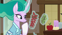 Mistmane levitating different herbs and leaves S7E16
