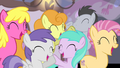 Ponies cheering for Fluttershy S4E14.png