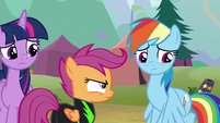 Rainbow Dash looks away in resignation S8E20
