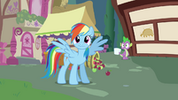 Rainbow Dash watches Tank crash S03E11