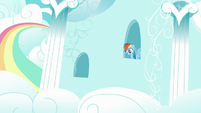 Rainbow appears in her house window S6E15
