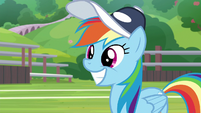 Rainbow grinning with satisfaction S9E15